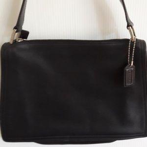 Coach Black Leather Handbag Purse H92-6145